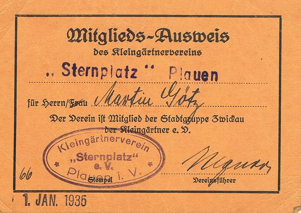 Mitgliedsausweis Götz